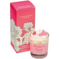 Bomb Cosmetics Rhubarb Rave Piped Candle - Candle Gifts