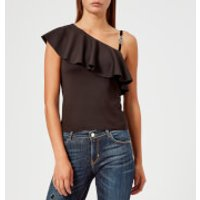 Guess Women's One Shoulder Betty Knitted Top - Jet Black - M - Black