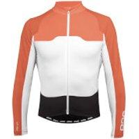 POC AVIP Long Sleeve Ceramic Jersey - M - Black/White