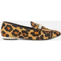 Dune Women's Gara Pony Jewelled Heel Loafers - Leopard - UK 4 - Tan