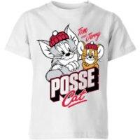 Tom & Jerry Posse Cat Kids' T-Shirt - White - 11-12 Years - White - Cat Gifts