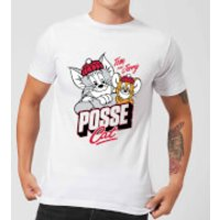 Tom & Jerry Posse Cat Men's T-Shirt - White - XL - White - Cat Gifts