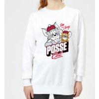 Tom & Jerry Posse Cat Women's Sweatshirt - White - XXL - White - Cat Gifts