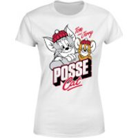 Tom & Jerry Posse Cat Women's T-Shirt - White - XL - White - Cat Gifts