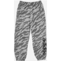 adidas Boys Linear Pants - Medium Grey Heather - 9-10 Years - Grey
