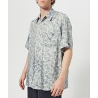 Our Legacy Men's Borrowed Short Sleeve Shirt - Sun Blue Paisley - XL - Blue