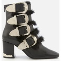Toga Pulla Women's Leather Heeled Ankle Boots - Black - UK 4 - Black