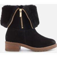 Carvela Snug Suede Flat Boots - Black