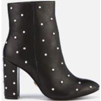 Kurt Geiger London Women's Swiss Leather Heeled Ankle Boots - Black - UK 5 - Black