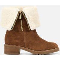 Carvela Snug Suede Flat Boots - Tan