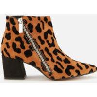 Carvela Women's Signet Leather Heeled Ankle Boots - Black/Comb - UK 4 - Tan