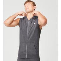 Tru-Fit Sleeveless Hoodie - Charcoal Marl - S - Charcoal Marl