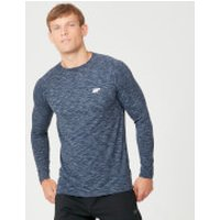Performance Long-Sleeve T-Shirt - XS - Navy Marl