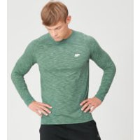 Image of Myprotein Performance Long Sleeve T-Shirt - Green Marl - L