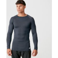 Charge Compression Long Sleeve Top - Navy Marl - M - Navy Marl