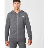 Tru-Fit Full Zip Hoodie - Charcoal Marl - XL - Charcoal Marl