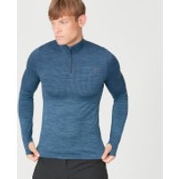 Myprotein Sculpt Seamless 1/4 Zip Top - Petrol Blue - XL - Petrol Blue
