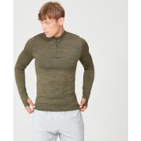 Sculpt Seamless 1/4 Zip Top - Light Olive - XL - Light Olive