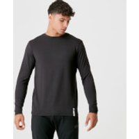 Luxe Classic Long Sleeve Crew - Black - S - Black