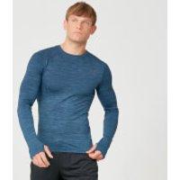 MP Sculpt Seamless Long Sleeve T-Shirt - Petrol Blue - S