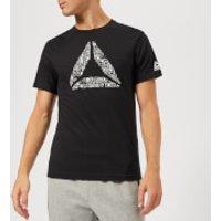 Reebok Men's Mantra Delta Short Sleeve T-Shirt - Black - XXL - Black