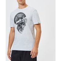 Reebok Men's Cross Fit Pleated Skull Short Sleeve T-Shirt - Grey - XXL - Grey