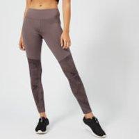 Reebok Women's Colour Block Tights - Almost Grey - L - Grey