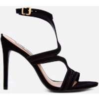 Steve Madden Women's Sidney Nubuck Heeled Sandals - Black - UK 8 - Black