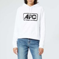 A-P-C--Womens-Lettrism-Hoody-White-S-White