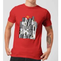 The Incredibles 2 Skyline Men's T-Shirt - Red - XXL - Red
