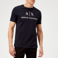 Armani Exchange Men's AX and Script Logo T-Shirt - Navy - S