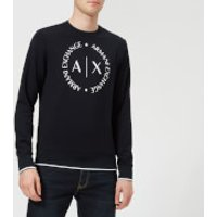 Armani Exchange Men's Round Logo Sweatshirt - Navy - XL - Navy