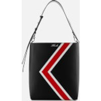 Karl Lagerfeld Womens K/Stripes Hobo Bag - Black