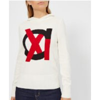 Armani Exchange Knitted Hooded Jumper - Martini