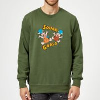 The Flintstones Squad Goals Sweatshirt - Forest Green - M - Forest Green