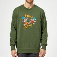 The Flintstones Squad Goals Sweatshirt - Forest Green - M - Forest Green