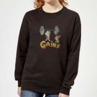 The Flintstones Distressed Bam Bam Gains Women's Sweatshirt - Black - 5XL - Black