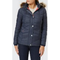 Barbour Womens Bernera Quilt Jacket - Navy/Reef Red - UK 8