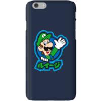 Funda móvil Nintendo Super Mario Luigi Kanji para iPhone y Android - iPhone 6 - Carcasa rígida - Mate