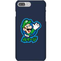 Funda móvil Nintendo Super Mario Luigi Kanji para iPhone y Android - iPhone 7 Plus - Carcasa rígida - Brillante