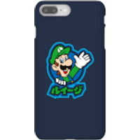 Funda móvil Nintendo Super Mario Luigi Kanji para iPhone y Android - iPhone 8 Plus - Carcasa rígida - Brillante