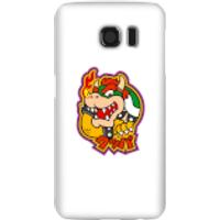 Funda móvil Nintendo Super Mario Bowser Kanji para iPhone y Android - Samsung S6 - Carcasa rígida - Mate