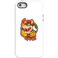 Funda móvil Nintendo Super Mario Bowser Kanji para iPhone y Android - iPhone 5/5s - Carcasa doble capa - Brillante