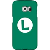 Funda móvil Nintendo Luigi Logo para iPhone y Android - Samsung S6 Edge - Carcasa rígida - Mate
