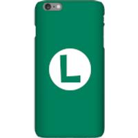 Funda móvil Nintendo Luigi Logo para iPhone y Android - iPhone 6 Plus - Carcasa rígida - Brillante