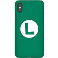 Nintendo Super Mario Luigi Logo Phone Case - iPhone X - Snap Case - Gloss