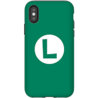 Funda móvil Nintendo Luigi Logo para iPhone y Android - iPhone X - Carcasa doble capa - Brillante
