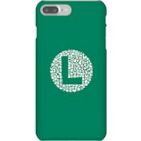 Funda móvil Nintendo Luigi Logo para iPhone y Android - iPhone 7 Plus - Carcasa rígida - Mate