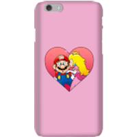 Funda móvil Nintendo Super Mario Beso Peach para iPhone y Android - iPhone 6 - Carcasa rígida - Mate