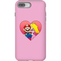 Nintendo Super Mario Peach Kiss Phone Case - iPhone 8 Plus - Tough Case - Matte